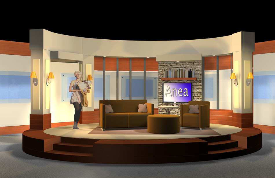 Anea Talk Show Set Design By Julie Ray